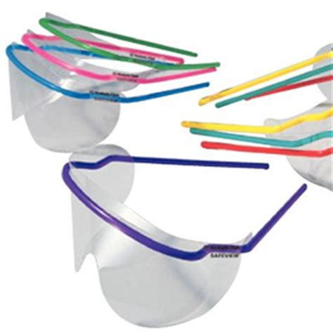 safeview disposable protective eyewear w/ clear lenses