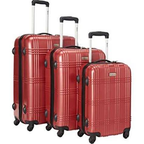 amazon com hybrid travel 3 piece luggage set durable lightweight amazon com 3 piece spinner luggage set v color red clothing