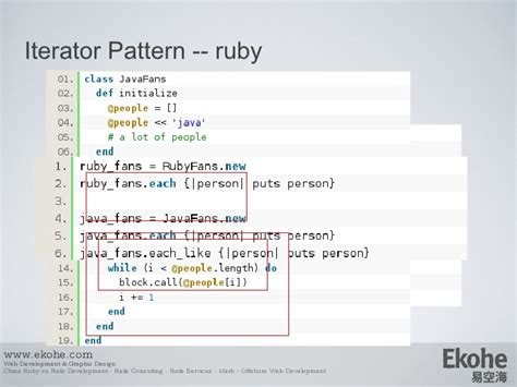 design pattern in ruby design pattern from java to ruby