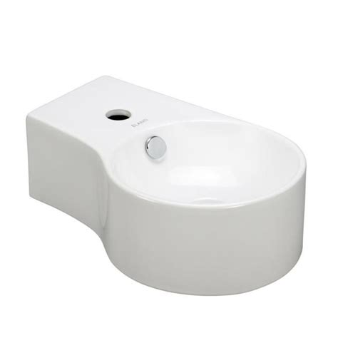 deep bathroom sinks elanti wall mounted round deep bowl right facing bathroom