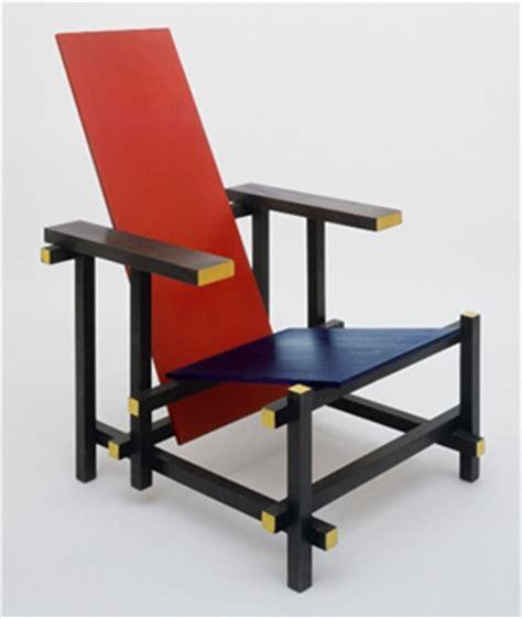 rietveld sedia poltrona rossa e lo stile utopico di rietveld