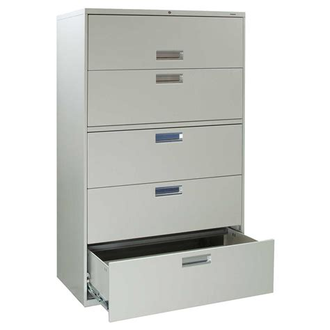 Hon 42 Lateral File Cabinet Hon Brigade 600 Series Used 5 Drawer 42 Inch Lateral File