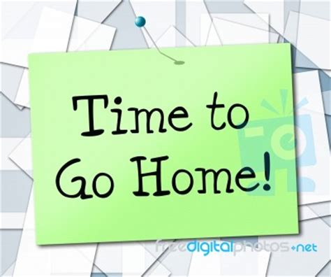 time go home shows see you later and advertisement stock