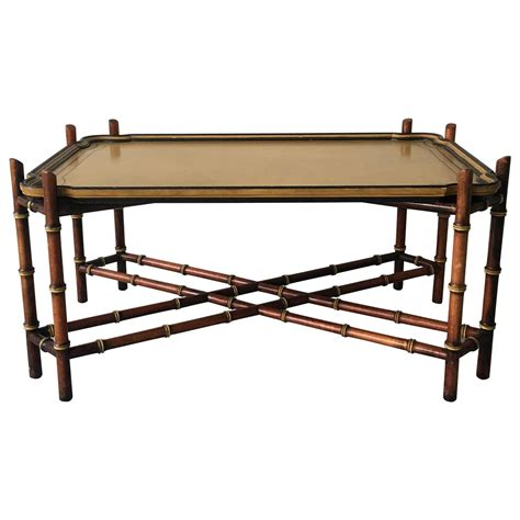 baker furniture faux bamboo tray coffee table for sale at