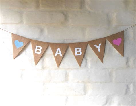 Baby Shower Bunting by Baby Hessian Nursery Baby Children Celebration Baby Shower Banner Bunting Collecting