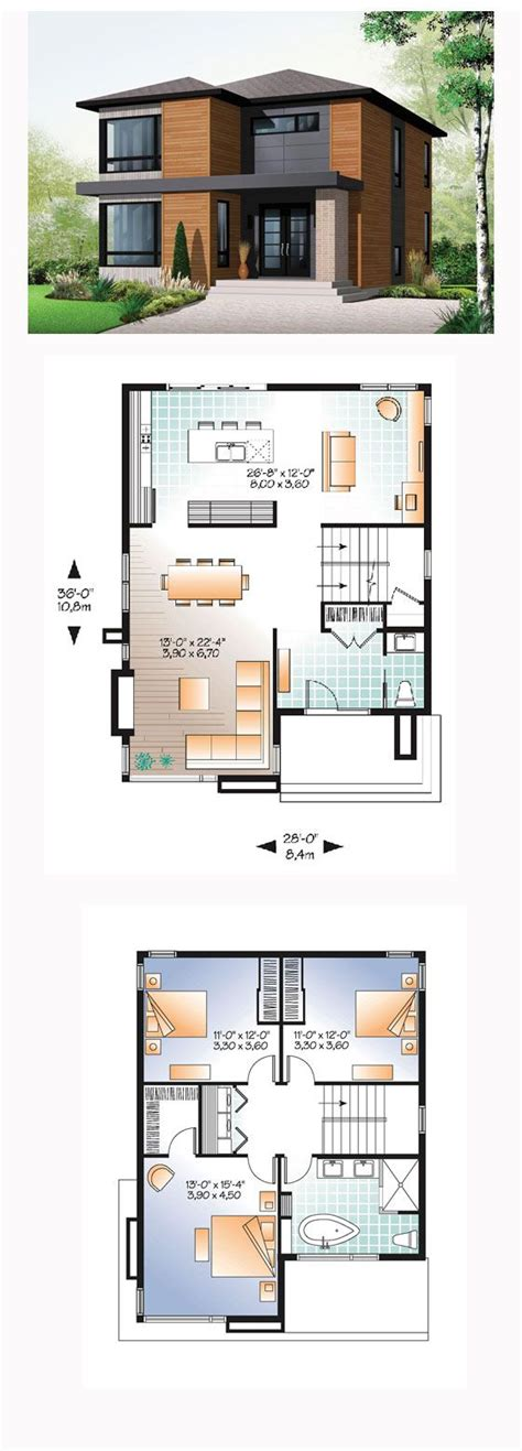 small modern house designs and floor plans best 25 small modern house plans ideas on pinterest