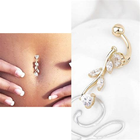 Anting Pusar Belly Ring Naval Ring dangle belly button rings piercing navel rings ea ebay