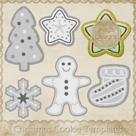 christmas cookie templates images