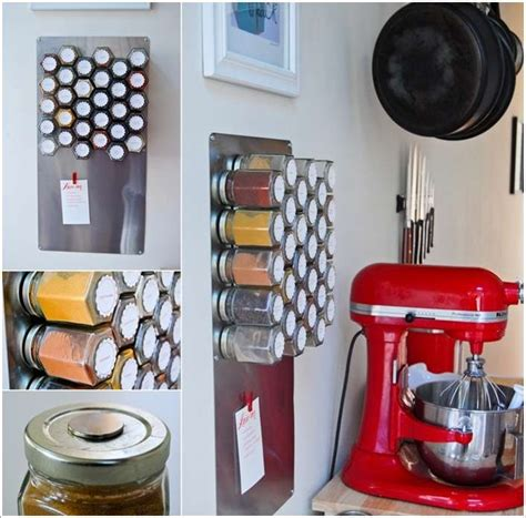 Make A Magnetic Spice Rack by 12 Smart Kitchen Storage Projects You Can Make Yourself