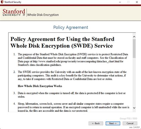 how to install stanford whole disk encryption for windows