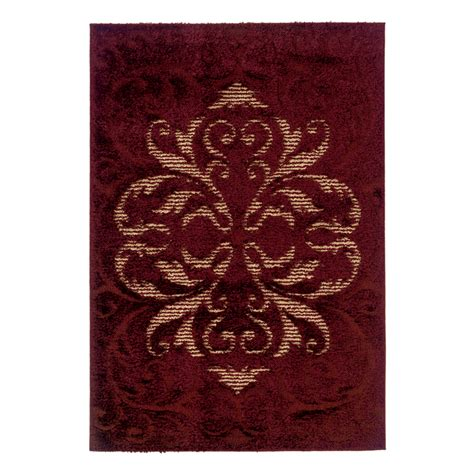allen roth rug sale united weavers 390 20136 spangles collection area rug radiance wine lowe s canada