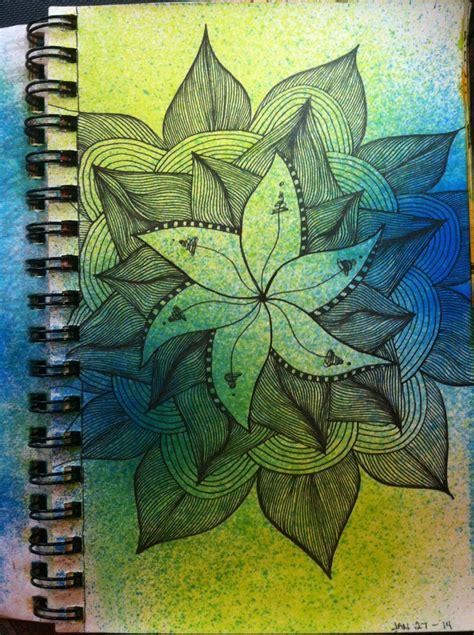 sketchbook zentangle sketchbook lined flower zentangle kitskorner