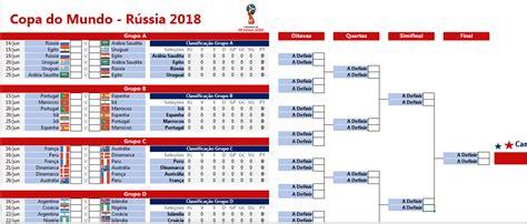 tabela da copa do mundo 2018 em excel excel easy