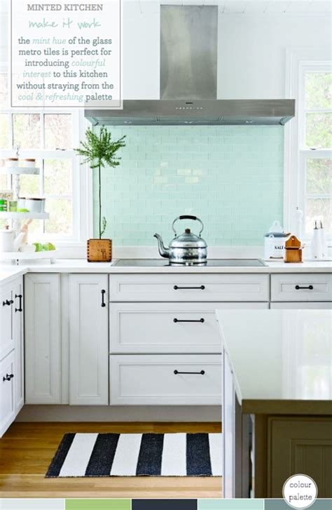 mint kitchens palette addict mint green kitchen splashback bright