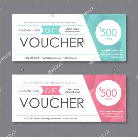 graphic design gift card template portfolio 43 voucher designs design trends premium psd vector