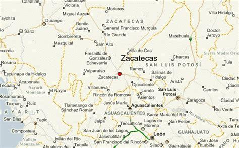 map of mexico zacatecas zacatecas location guide