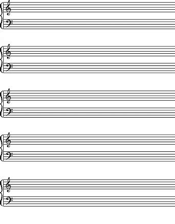 Printable Lined Music Paper | music paper new calendar template site