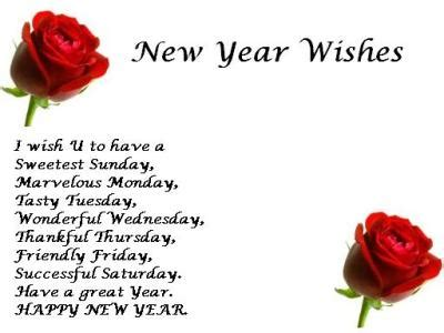 new year greeting word in happy new year