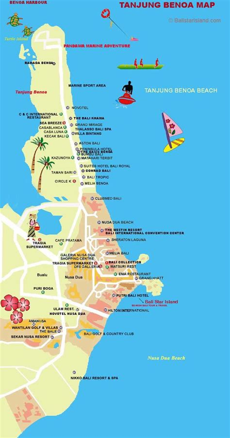 bali map nusa dua large international hospital bimc bali nusa dua map