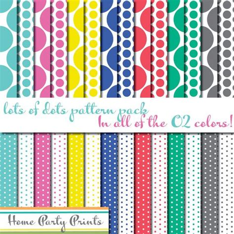 lots of dots digital paper pack origami owl colors