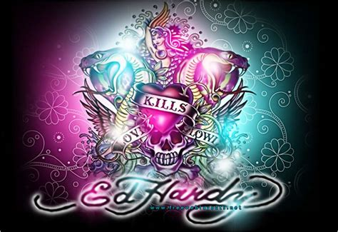 ed hardy backgrounds wallpaper cave