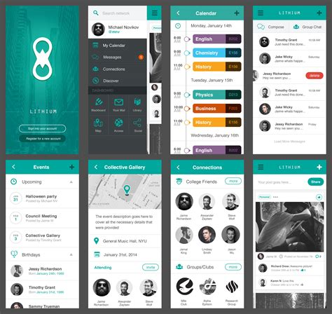 app design ui kit lithium free mobile ui kit app design pinterest ui