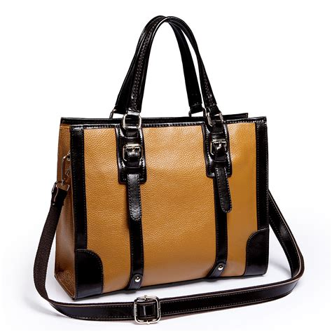 Cowhide Handbag - cowhide leather bag yellow