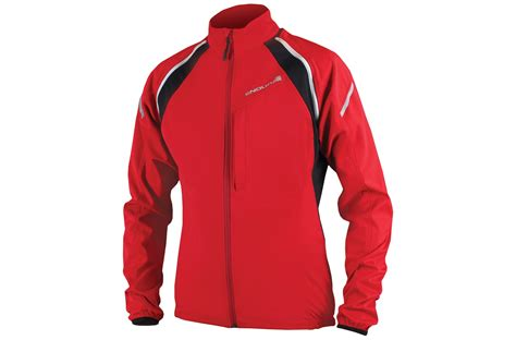 cycling jacket red endura convert windproof softshell cycling jacket gilet in red