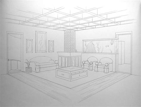 draw room dimensions two point perspective by rhino0 on deviantart