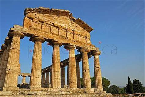 greco architecture stock photo ruins of greco architecture paestum province of salerno cania southern