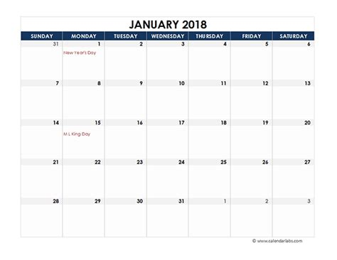 2017 Monthly Calendar Template Google Sheets free 2018 excel spreadsheet calendar