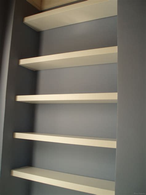 custom built floating shelves alcove carpentry interior and custom made furniture