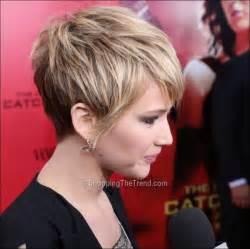 hunger new haircut jennifer lawrence short hair the hunger games catching