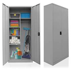 placard pour produits de nettoyage acier balai armoire