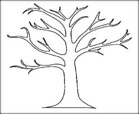 tree to color tree leaves coloring pages for