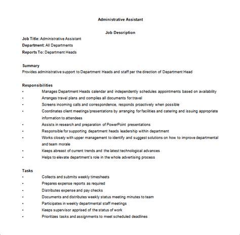 office assistant description template 11 office assistant description templates free