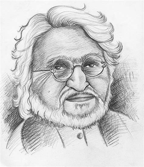 M F Hussain Sketches by M F Hussain Drawing By Daljeet Kaur