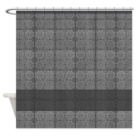 tile pattern curtains gray mosaic tile pattern shower curtain by