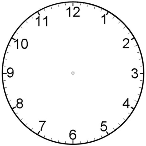 Clock Templates For Telling Time clock blank clipart best clipart best klokken blank clock telling time and math