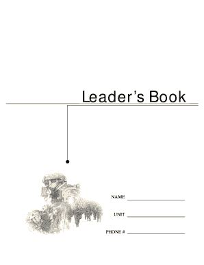 army leaders book fill online printable fillable