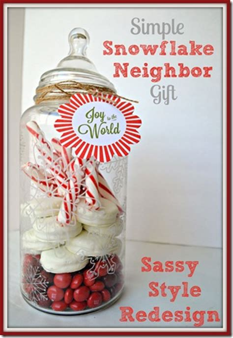 10 easy christmas gifts to make for neighbors simple snowflake gift pinlavie