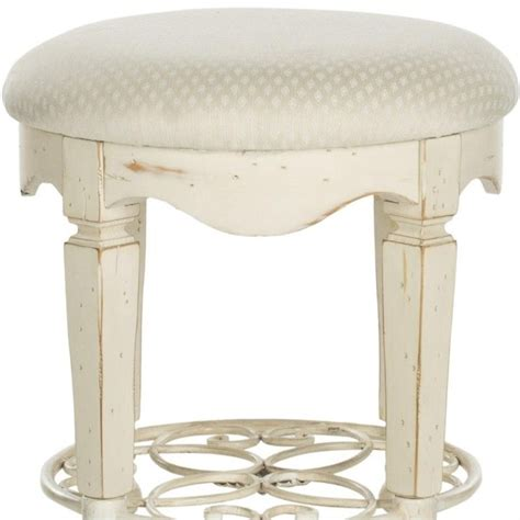 White Vanity Stools by Safavieh Antique Vanity Stool In White Amh4007a