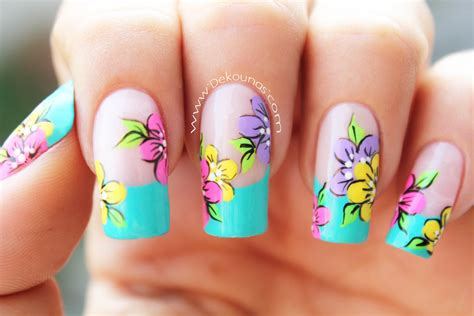 imagenes decoracion de uñas flores decoraci 243 n de u 241 as flores flowers nail art youtube