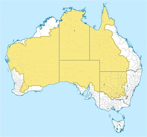 australia population map 2 of australia s population lives in the yellow area of