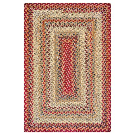 rugs cotton buy pumpkin pie multi color cotton braided rugs homespice