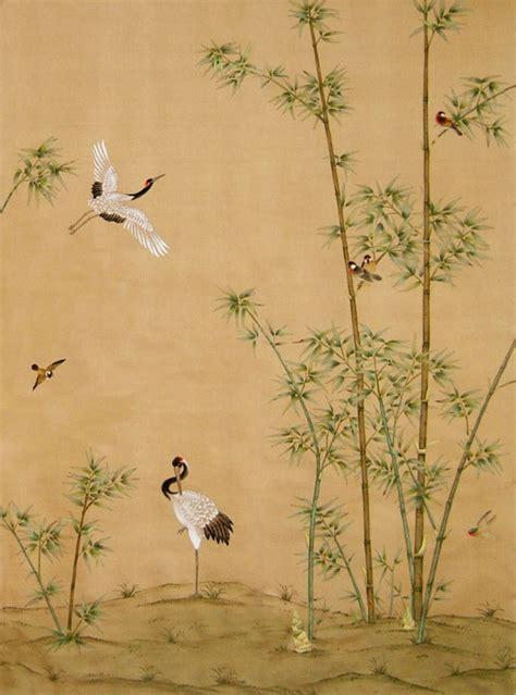 chinoiserie wallpaper chinoiserie wallpaper quot crane grove quot historische