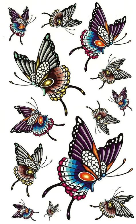 colorful butterfly tattoos 21 best colorful butterfly designs images on
