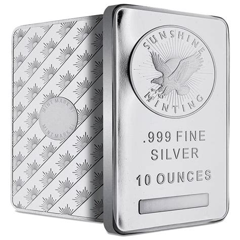 1 oz silver bar prices 10 oz silver bar buy 999 bullion bars money metals 174