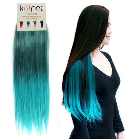 color extensions black and turquoise ombre hair www imgkid the