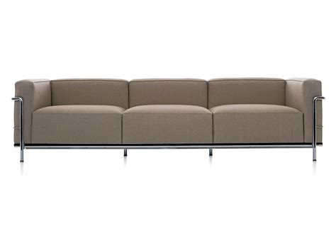sofa lc3 lc3 three seater sofa on a steel frame cassina luxury